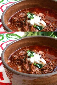 Slow Cooker Birria de Res or Mexican Beef stew is the ultimate Mexican comfort food Robust and incredibly delicious These flavors will make your tastebuds beg for more Serve with lime and diced onion It s so easy to enjoy Recipe by Mama Maggie s Kitchen Authentic Mexican Recipes, Mexican Dinner Recipes, Authentic Mexican Birria Recipe, Spanish Food Recipes, Mexican Dinners, Crock Pot Recipes, Cooking Recipes, Healthy Recipes, Beef Stew Recipes