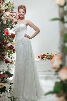 >> Click to Buy << Free shipping Fashion Strapless Floor length Applique Hand Made Flower Standard code Wedding gown wedding dress #Affiliate