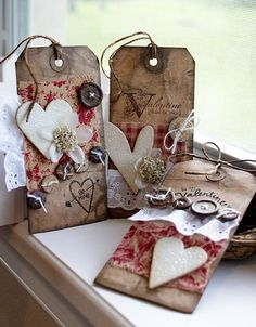 walnut ink, fabric, melissa frances embellishments & buttons from papertrey ink ...
