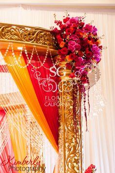 Suhaag Garden, Indian wedding decorators, Florida Atlanta California, mandap, Grand Hyatt Tampa Bay, round mandap, wedding aisle, candelabra