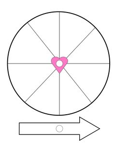 Valentine Crafts: How to Make a Spinner: Step 3: Print the Spinner Wheel Template