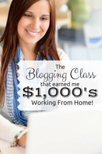 As I've evolved as a blogger, mother, and freelancer extraordinaire, I've learned that some things are totally worth spending money on! Case in point: the awesome blogging class that has single-handedly helped me to earn $1,000's of dollars while working