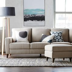 Living Room: Erskine Floor Rug in Natural Belgrave mod - 1 Living Area, Living Spaces, Living Rooms, Floor Rugs, Floor Lamp, Freedom Furniture, Moving House, Home And Living, Sweet Home
