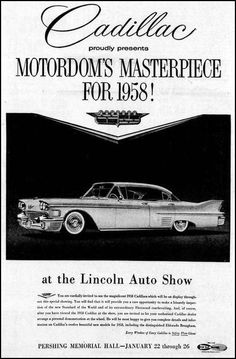 https://flic.kr/p/DATquH | Vintage Newspaper Advertising For The 1958 Cadillac In The Lincoln Nebraska Star, January 19, 1958