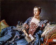 Louis XV of France - Wikipedia, the free encyclopedia Madame Pompadour, Caravaggio, Georgia O'keeffe, Esteban Murillo, National Gallery, Rococo Fashion, Vintage Fashion, 18th Century Fashion, Woman Reading