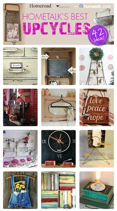 Repurposed and upcycled projects all in one place from Homeroad and Hometalk www.homeroad.net http://www.pinterest.com/homeroad/