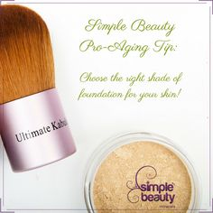 Wearing the wrong foundation shade can age us in a way that is not necessarily flattering. But aging in itself, is not a bad thing! We invite you to embrace your mature beauty with these tips for women in their second act - full of growth and self expansion! Click here for your best skin yet: https://simplebeautyminerals.com/makeup-and-cosmetics/anti-aging-makeup-tip/ #Proaging #Maturebeauty