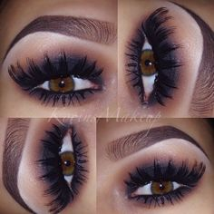 Perfect lashes and brows with the smokey look Flawless Makeup, Love Makeup, Skin Makeup, Makeup Lipstick, Makeup Looks, Makeup Tips, Pretty Makeup, Eyeshadow, All Things Beauty
