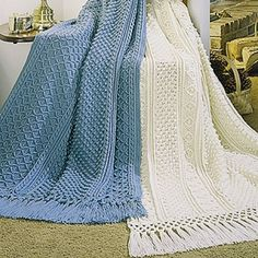 Crochet Knurl Stitch : the Galway and Cork Afghans crochet patterns are made up of stitches ...
