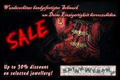 Sale !!!  - Up to 30% discount on selected jewellery. https://www.etsy.com/de/shop/SpinnWeben?ref=seller-platform-mcnav