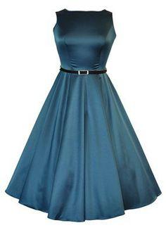 The Teal Green Hepburn Dress