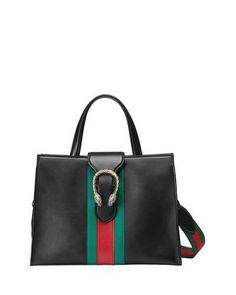 Gucci Borsa a mano Dionysus in pelle euro Leather Purses, Leather Handbags, Men's Totes, Gucci Purses, Gucci Gucci, Gucci Bags, Bags 2017, Tote Handbags, Tote Purse