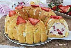 TORTA TIRAMISU alle Fragole Senza COTTURA Dolce senza uova crude Dream Cake, Tiramisu, Pineapple, Cheesecake, Food And Drink, Fruit, Desserts, Dolce, Ricotta