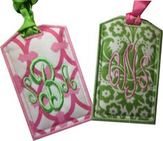 Monogram luggage tags