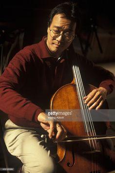 Cellist Yo Yo Ma during a recording session in 1998 in Boston, Massachussetts.