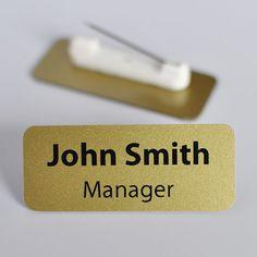 Set Of 10 Personalised Name Badges.