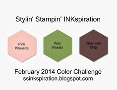 Stampin' Fun with Diana: Stylin' Stampin' INKspiration February Color Challenge: Layered Labels