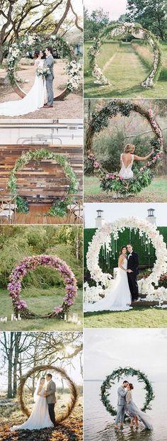 pretty circular wedding arches for 2018 trends #wedding #weddingdecor #weddingarches #weddingideas