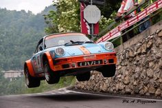 This is where the 914's are happiest . . . In the air! Porsche 914 race