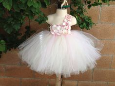 Flower Girl Dress Tutu Dress Blush Pink by IsabellaCoutureShop, $85.00