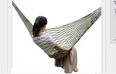 Portable Thicker Nylon Hanging Mesh Sleeping Bed Swing Outdoor Travel Camping Hammock Green * Want additional info? Click on the image.(This is an Amazon affiliate link)