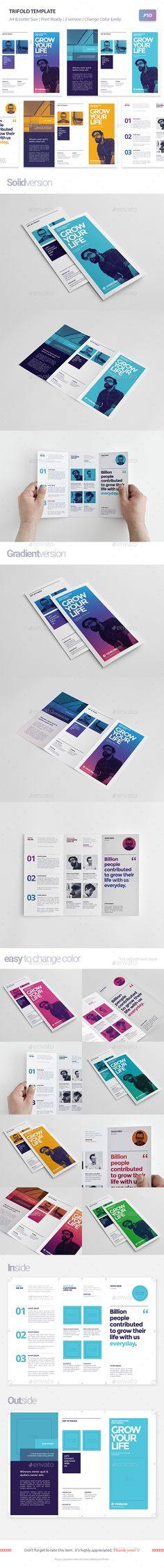 #Trifold Template - #Brochures Print Templates