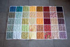 Verso du rainbow quilt terminé- DIY rainbow quilt réversible parfumdecouture.com