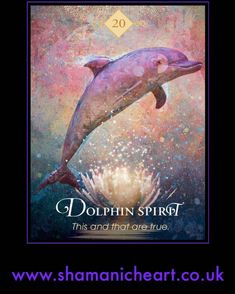 """Dolphin Spirit  """"This and that are true."""" 🐬💫 Dolphin Spirit, like her earthly manifestation, is a reminder of duality. The dolphin is… Yoga Studio Design, Beatles, Oracle Tarot, Oracle Deck, Animal Spirit Guides, Animal Medicine, Animal Symbolism, Angel Cards, The Draw"""