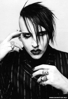 marilyn manson! He's really a very intelligent person, to do what he does gets himself out there and to be known and to try and prove a point