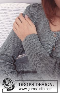 Drops Design, Knitting Patterns Free, Free Knitting, Ravelry, Cardigan Pattern, Cotton Viscose, Knit Jacket, Pullover, Fingerless Gloves