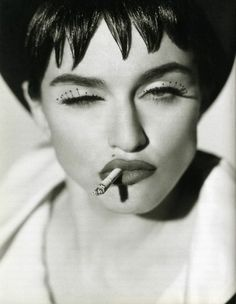 Madonna x Herb Ritts / 1990 THE QUEEN! I never understood how she got the mascara dots on the tips of her eyelashes!