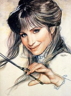 Concept sketch of Barbra Steisand in Yentl, illustration by Richard Amsel Celebrity Drawings, Celebrity Portraits, Caricatures, Barbra Streisand, Movie Poster Art, Brooklyn, Tv Guide, Hello Gorgeous, Girl Humor