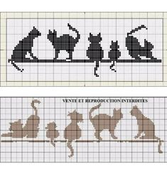Cross Stitch Bookmarks, Cross Stitch Borders, Cross Stitch Animals, Cross Stitch Charts, Cross Stitch Designs, Cross Stitching, Cross Stitch Embroidery, Cross Stitch Patterns, Gato Crochet