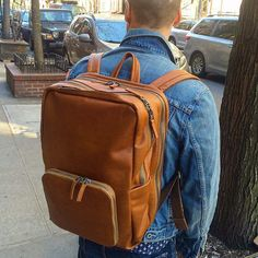 Chad with @lodgegoods and Venture Backpack toffee regular #tigventure #nyc #les