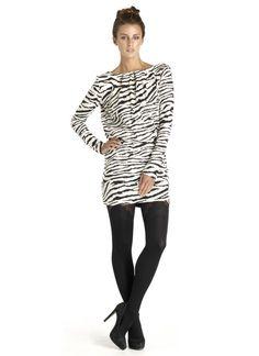 Zebra print backless dress $62