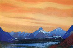 Н.К.Рерих. Гималаи [Золотое небо]. 1942