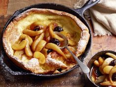 Get Souffle Pancake With Apple-Pear Compote Recipe from Food Network