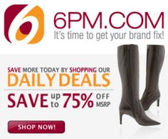 6pm.com has discounts on clothing and shoes