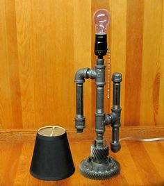 Steampunk Mini Table Lamp OOAK by ranaway on Etsy, $250.99