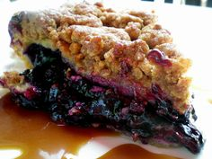 Blueberry Pie with Streusel Topping by Kevin H., via Flickr