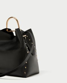 d1ef7571528f ZARA - WOMAN - STUDDED BUCKET BAG WITH METAL HANDLE Winter Is Here