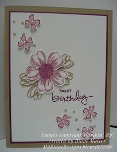 Endless Flower - http://mydianedesigns.blogspot.com/ Flower Shop, Endless Birthday Wishes, Something to Say, Stampin' Up!