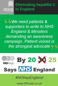 'We need #patients & supporters to write to #NHSEngland & Ministers demanding an #awareness #campaign. Patient voices is the strongest #advocate' #hepatitis #HepC #HCV #NOhep #NOhepEngland