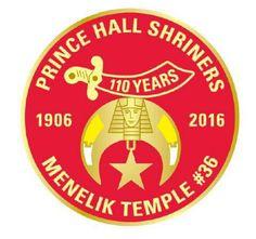PHA SHRINERS Menelik Temple #36 1906-2016 110 years of Shrinedom