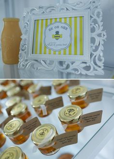 what will it bee baby shower favors | bee_themed_baby_shower_honey_favors.jpg