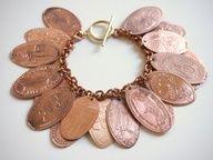 Turn your Souviner Pennies into a Bracelet