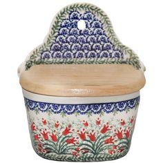 New Polish Pottery RECIPE SALT BOX Boleslawiec CA Pattern 1437 Euro Stoneware Polish Pottery http://www.amazon.com/dp/B008FA0RD2/ref=cm_sw_r_pi_dp_eTiXub197M1ZG