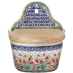 New Polish Pottery RECIPE SALT BOX Boleslawiec CA Pattern 1437 Euro Stoneware Polish Pottery http://www.amazon.com/dp/B008FA0RD2/ref=cm_sw_r_pi_dp_eTiXub197M1ZG