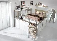 Inspirerend   Multifunctionele tienerkamer, ideaal voor kleine ruimtes Door Artefact