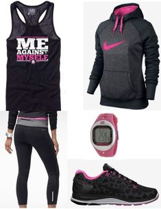 trendy sport motivation girl dream bodies health look fashion, sport fashion, fitness Workout Attire, Workout Wear, Workout Outfits, Workout Clothing, Fitness Clothing, Pink Workout, Workout Tanks, Exercise Clothes, Winter Workout Clothes